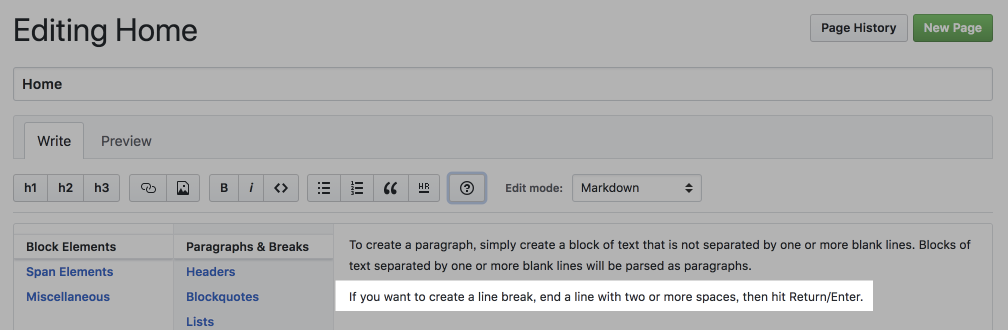 GitHubのWIkiページのヘルプ