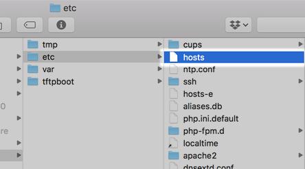 mac hosts場所と編集方法