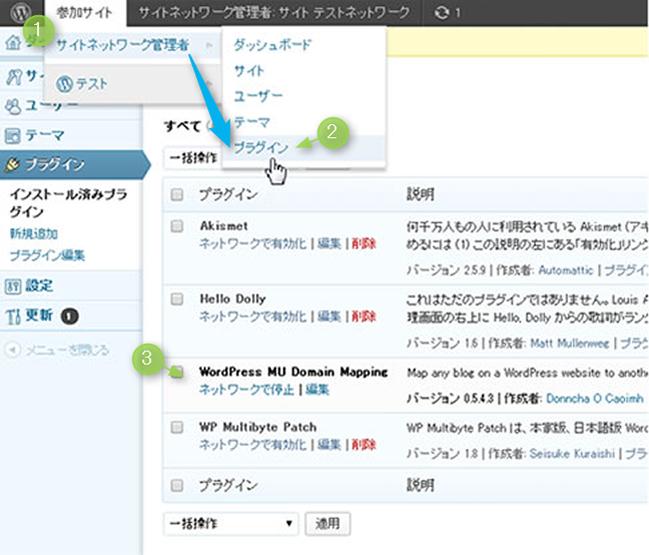 WordPress MU Domain Mappingをインストール